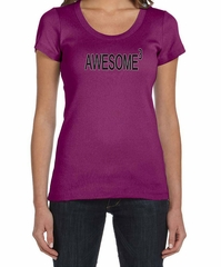 Ladies Shirts Awesome Cubed Scoop Neck Tee T-Shirt