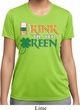Ladies St Patrick's Day Shirt Drink Til Yer Green Moisture Wicking Tee