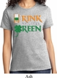 Ladies St Patrick's Day Shirt Drink Til Yer Green Tee T-Shirt