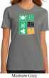 Ladies St Patrick's Shirt Eat Drink Be Irish Organic Tee T-Shirt