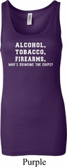Ladies Tanktop Alcohol Tobacco Firearms ATF Longer Length Tank Top
