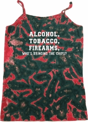 Ladies Tanktop Alcohol Tobacco Firearms ATF Tie Dye Camisole Tank Top