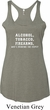 Ladies Tanktop Alcohol Tobacco Firearms Tri Blend Racerback Tank Top