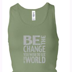 Ladies Tanktop Be The Change Longer Length Racerback Tank Top