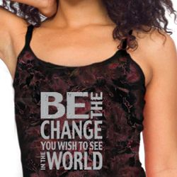 Ladies Tanktop Be The Change Tie Dye Tank Top