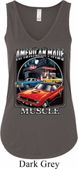 Ladies Tanktop Chrysler American Made Flowy V-neck Tank Top