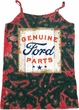 Ladies Tanktop Distressed Genuine Ford Parts Tie Dye Camisole Tank