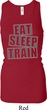 Ladies Tanktop Eat Sleep Train Longer Length Racerback Tank