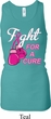 Ladies Tanktop Fight For a Cure Longer Length Racerback Tank Top