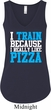 Ladies Tanktop I Train For Pizza Flowy V-neck Tank Top