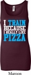 Ladies Tanktop I Train For Pizza Longer Length Tank Top