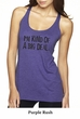 Ladies Tanktop Kind of a Big Deal Black Print Tri Blend Racerback Tank