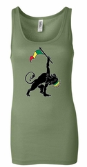 Ladies Tanktop Rasta Triangle Longer Length Tank Top