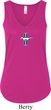 Ladies Tanktop The Legend Lives Small Print Flowy V-neck Tank Top