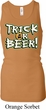 Ladies Tanktop Trick Or Beer Longer Length Racerback Tank Top