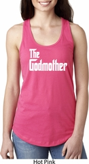 Ladies The Godmother White Print Ideal Racerback