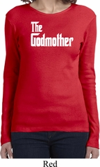 Ladies The Godmother White Print Long Sleeve