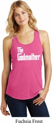 Ladies The Godmother White Print Racerback