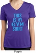 Ladies This Is My Gym Shirt Moisture Wicking V-neck Shirt