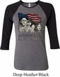 Ladies Three Stooges Shirt Rushmorons Raglan Tee T-Shirt