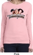 Ladies Three Stooges Shirt Stooge Faces Long Sleeve Tee T-Shirt