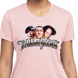 Ladies Three Stooges Shirt Stooges Faces Moisture Wicking T-Shirt