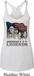 Ladies Three Stooges Tanktop Rushmorons Tri Blend Racerback Tank Top