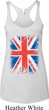 Ladies UK Flag Tanktop Union Jack Tri Blend Racerback Tank Top