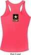 Ladies US Army Back Print Dry Wicking Racerback