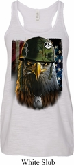 Ladies USA Tank Top American Eagle Flowy Racerback