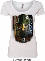Ladies USA Tee American Eagle Scoop Neck