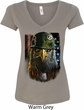 Ladies USA Tee American Eagle V-Neck Shirt