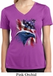 Ladies USA Tee American Icon Moisture Wicking V-neck