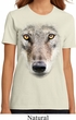 Ladies Wolf Shirt Big Wolf Face Organic T-Shirt