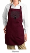 Ladies Yoga Apron Black Tree Pose Full Length Apron with Pockets