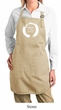 Ladies Yoga Apron Enso Happiness Full Length Apron with Pockets