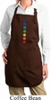 Ladies Yoga Apron Glowing Chakras Full Length Apron with Pockets