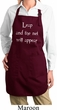 Ladies Yoga Apron Leap Full Length Apron with Pockets