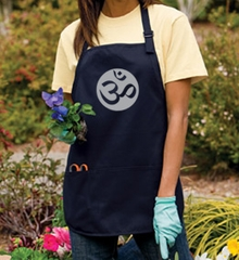 Ladies Yoga Apron – Om Symbol Meditation 3 Pocket Apron