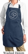 Ladies Yoga Apron Thin OM Full Length Apron with Pockets