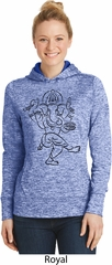 Ladies Yoga Black Sketch Ganesha Dry Wicking Hoodie