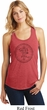 Ladies Yoga Circle Ganesha Black Print Racerback Tank Top