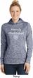 Ladies Yoga Heavily Meditated with OM Dry Wicking Hoodie