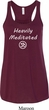 Ladies Yoga Heavily Meditated with OM Flowy Racerback