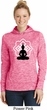 Ladies Yoga Hoodie Buddha Lotus Pose Dry Wicking Hoody