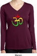Ladies Yoga Rasta Aum Dry Wicking Long Sleeve V-neck