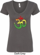 Ladies Yoga Rasta Aum V-neck
