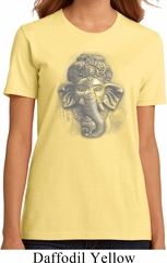 Ladies Yoga Shirt 3D Ganesha Darks Organic Tee T-Shirt