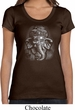 Ladies Yoga Shirt 3D Ganesha Darks Scoop Neck Tee T-Shirt