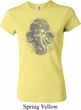 Ladies Yoga Shirt 3D Ganesha Lights Crewneck Tee T-Shirt
